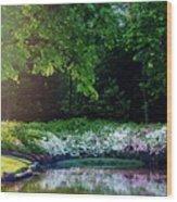 Early Morning Light At The Azalea Pond Wood Print