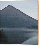Early Morning Mist Lake Atitlan Guatemala Wood Print