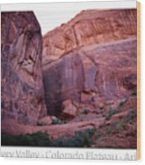 Early Morning Mystery Valley Colorado Plateau Arizona 04 Text Wood Print