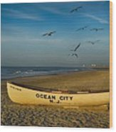 Early Morning Ocean City Nj Wood Print