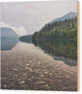 Early Morning On Lake Mcdonald II Wood Print