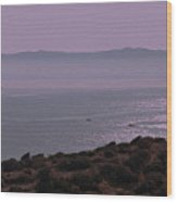 Early Morning On Southern Greek Coast Wood Print