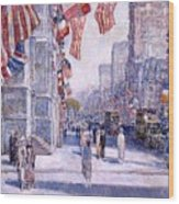 Early Morning On The Avenue In May 1917 - 1917 Wood Print