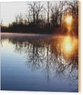 Early Morning On The Canal Wood Print