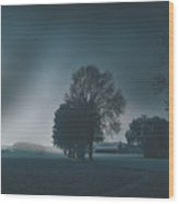 Early Morning On The Farm Wood Print