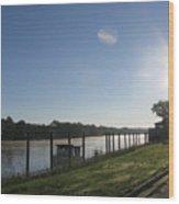 Early Morning On The Savannah River Wood Print