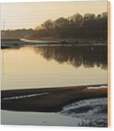 Early Morning Reflections  Wood Print