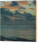 Early Morning Sea Wood Print