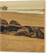 Early Morning Tybee Beach Wood Print