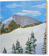 Early Sierra Snow At Ridgeline Wood Print