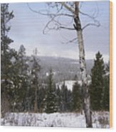 Early Snows In The Rockies Wood Print