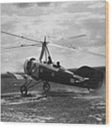 Early Soviet Autogyro, 1932 Wood Print