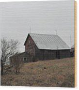 Early Spring Farm Wood Print