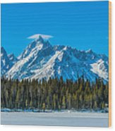 Early Spring In The Tetons Wood Print