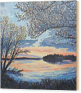 Early Spring Sunset Wood Print