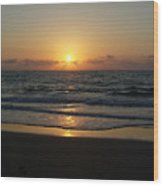Early Sunrise  Atlantic Ocean Wood Print