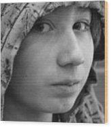 Early Teen Boy Wood Print