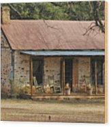 Early Texas Farm House Wood Print