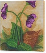 Early Violets Wood Print