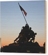 Early Washington Mornings - Iwo Jima Memorial Wood Print