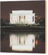 Early Washington Mornings - Lincoln Reflecting Wood Print