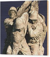 Early Washington Mornings - Team Iwo Jima Wood Print