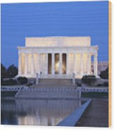 Early Washington Mornings - The Lincoln Memorial Wood Print