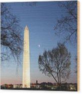 Early Washington Mornings - The Washington Monument Wood Print
