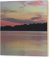 Early Whidbey Island Sunset  Wood Print