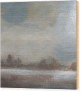 Early Winter Mist Wood Print