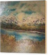 Early Winter Mountain Range Wood Print