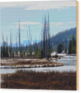 Early Winter On The Yellowstone Wood Print