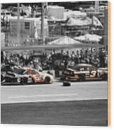 Earnhardt And Martin In The Pits Wood Print