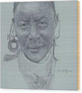 Earrings And Bandana Wood Print