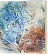 Earth And Ice Wood Print