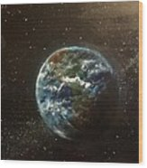 Earth From Above  Wood Print