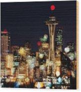 Earth Hour Spots A354 Wood Print