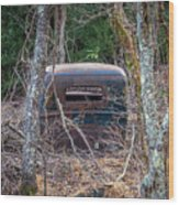 Earth Reclaims A Truck Wood Print