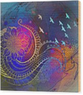Earth, Zen, Peace 2 Wood Print