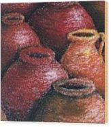 Earthen Vessels Iv Wood Print