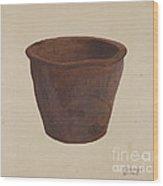 Earthenware Bowl Wood Print