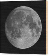 Earth's Moon Phase Full Moon Wood Print