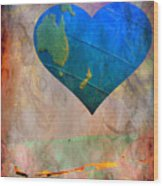 Earthy Heart Wood Print