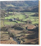 Easedale Beck, Landscape Wood Print