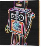 Easel Back Robot Wood Print
