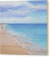 East Beach I Wood Print