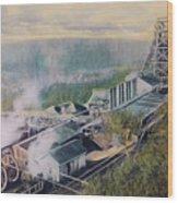 East Brookside Mine Shaft Wood Print