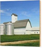 East Central Illinois Farm Buildings By Earl's Photography Wood Print