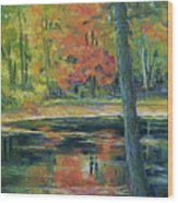 East Coast Autumn Wood Print