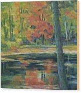 East Coast Autumn Wood Print
